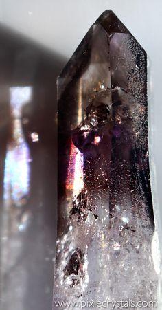 Brandberg Amethyst and Smoky Quartz crystal -x- photo by Loren Warn -x- #pixiecrystals / www.pixiecrystals.com -x-
