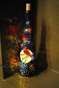 Hey, I found this really awesome Etsy listing at https://www.etsy.com/listing/174124475/st-louis-cardinals-lighted-wine-bottle