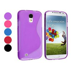 Specifications FOR Samsung Mobile Phone COMPATIBLE MODELS S4 I9500 FEATURES Back Cover STYLE Solid Color MATERIAL Silicone COLOR Purple, Pink, Blue, Red, Black Dimensions (cm) 13.9x7.2x1.1 Weight (kg) 0.016