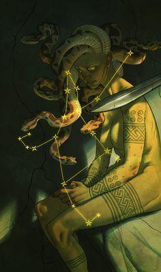 Cosmos   Perseus, Claire Hummel on ArtStation at https://www.artstation.com/artwork/4RqQW