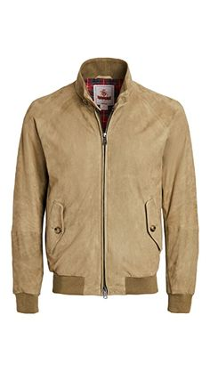 Baracuta G9 Suede Jacket | EAST DANE Mens Outdoor Jackets, Spring And Fall, Suede Jacket, Spring Outfits, Mens Fashion, Zip, Clothing, Fabric, How To Make