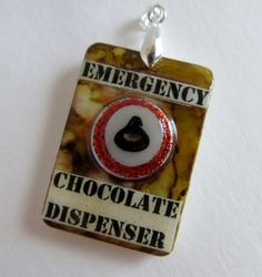 Chocolate Emergency! Pendant Necklace- Green and Silver | WhimsyFunk