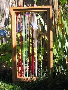 outdoor weaving (DIY loom tutorial)