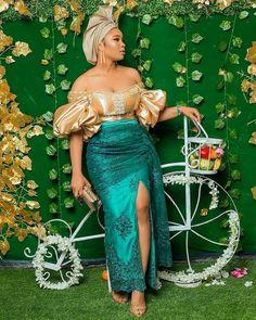 African Fashion Ankara, Latest African Fashion Dresses, African Print Fashion, Africa Fashion, Ankara Wedding Styles, Ankara Short Gown Styles, African Party Dresses, African Lace Dresses, Lace Skirt And Blouse