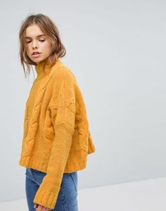 Bershka Chenille Cable Knitted Jumper
