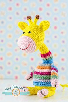 Georgia, The Giraffe by ItsyBitsyAmi, amigurumi crochet