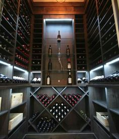 Wine cellar with display shelf for displaying your prized bottles