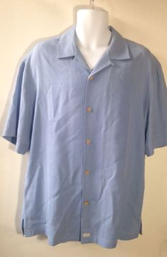 Tehama Blue Button Down Shirt Size L #TEHMA #ButtonFront