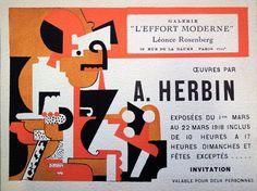 Auguste Herbin, Léonce Rosenberg's Galerie L'Effort Moderne, 1918