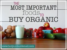 In the perfect world, we'd all be able to buy EVERYTHING organic ALL THE TIME. But the world is not perfect and it's very important to know which foods are the most important to buy organic so you can prioritize.