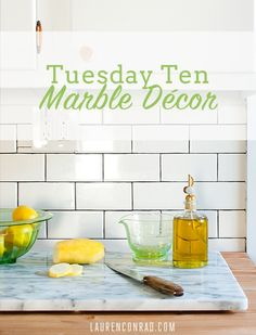 Lauren Conrad's 10 Favorite Marble Decor Finds. @Nicole Lynda @Kristen Terranova nice to have a marble man for a dad!