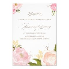 See MoreRomantic Watercolor Flowers Wedding Reception Cardso please read the important details before your purchasing anyway here is the best buy