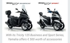 2017 Yamaha Tricity 125 Business and Sport series