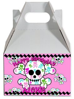 World of Pinatas - Girly Skull Personalized Gable Box (set of 6), $11.99 (http://www.worldofpinatas.com/girly-skull-personalized-gable-box-set-of-6/)