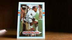 topps 1989 new orleans saints dalton hilliard rb