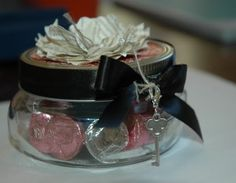 Beautiful candy jar using Stampin Up! product by my Friend Maree!