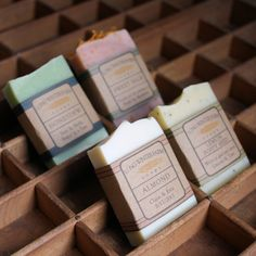 This listing is for 50 little bars of cold process soap in your choice of scent…