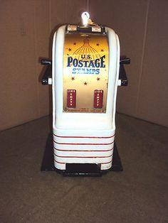 Vintage 2 cent & 3 cent US Postage Stamp Machine