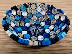 Quilling Azure Basket by SilvyOrigami on Etsy