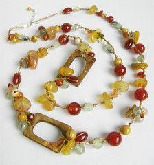 Yellow Jade Jasper Carnelian Neklace Carnelian, Jasper, Maya, Beaded Bracelets, Yellow, Amazing, Crafts, Jewelry, Manualidades