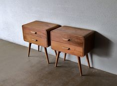 DEAR ALL We bring you this time around our latest collections of bed side cabinets or night stands. They are mid century inspired - an esse. 50s Furniture, Custom Made Furniture, Furniture Design, Bedside Cabinet, Nightstand, Bedside Tables, Retro Side Table, Mid Century Modern Side Table, Retro Bed
