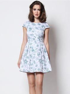 Kendra Flora Dress Forest – Wisteria