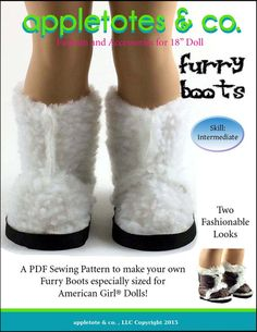 "FURRY BOOTS 18"" DOLL SHOES"