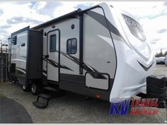 The ReZerve RTZ26RB travel trailer by CrossRoads RV offers a rear bath, double slides, and an outside kitchen.