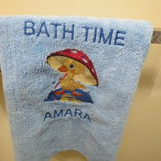 Personalized Microfiber Towel Baby Wash by HeartSongCreativeExp, $8.00 Beautiful Embroidered Gift Idea!