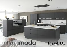 We offer the highest standard Handleless Matt Anthracite Kitchen Units at Kitchen Warehouse. Come and check out our range online today! Cheap Kitchen Cabinets, Kitchen Units, Kitchen Furniture, New Kitchen, Kitchen Doors, Furniture Cleaning, Office Furniture, Replacement Kitchen Worktops, Anthracite Kitchen