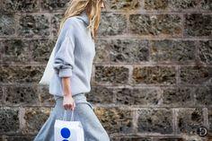 blue knits. Paris.