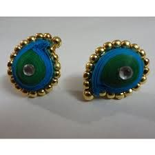 quilling paper indian earrings - Google Search