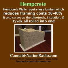 Hempcrete - concrete infused with hemp fiber