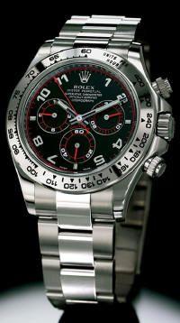 8289abe2737 Rolex Cosmograph Daytona White Gold on Bracelet w  Rare Black   Red Dial  116509