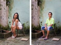 Photographer captures gorgeous side-by-side portraits of transgender people in Cuba Transgender Surgery, Transgender People, Call Me Caitlyn, Transgender Before And After, Side Portrait, Male To Female Transformation, Bizarre News, Before After Photo, Portraits