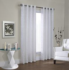 Common Wealth Home Fashions Hammered Leaf Habitat Grommet Top Pannel, 52 x 84', White ** Continue to the product at the image link. (This is an affiliate link and I receive a commission for the sales)
