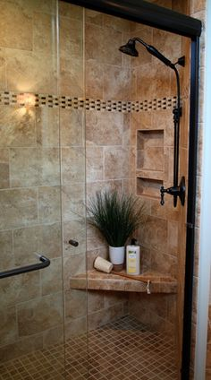 Traditional Home Walk-in Shower Design, Pictures, Remodel, Decor and Ideas - page 22