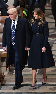 "On January 21, the day after her husband's presidential inauguration, Melania stepped out to the National Prayer Service sporting an understated cashmere coat, which was a collaboration between herself and Alice Roi. ""She definitely knew what she wanted. She knows clothing well and she's very direct. She has a wonderful, chic sense of style. That's something no matter what you put on her she kind of exudes. It's very guiding for the designer because you know exactly what to do to get in line…"