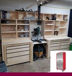 Top 80 Best Tool Storage Ideas - Organized Garage Designs From power to hand t. Top 80 Best Tool Storage Ideas – Organized Garage Designs From power to hand tools and beyond, Garage Tool Storage, Garage Tool Organization, Workshop Storage, Garage Tools, Organization Ideas, Garage Shop, Diy Garage Work Bench, Workshop Shelving, Garage Shelving