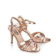 Sandalettes Buffalo, rosé