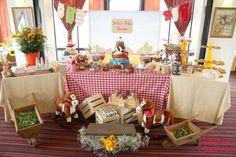 Boy's Cowboy Themed Baby Shower Party Dessert Table Decor Ideas