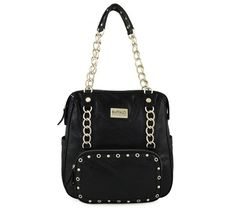 4/6/2012  Price: $39.99  + FREE SHIPPING Buffalo by David Bitton Chain Link Series Tanya Tote Design Handbag in Black