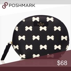 Kate Spade purse pouch or make up bag Kate Spade purse pouch or make up bag bnwt and I have the matching bag too✨🎀🎀🎀 thick cross hatched leather w 14KGold hardware kate spade Bags Wallets