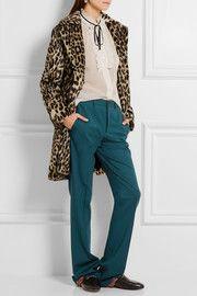 Miu MiuStretch-wool twill flared pants