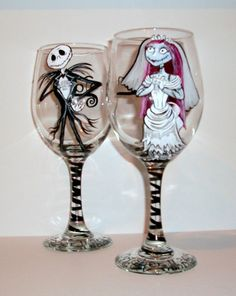Nightmare Before Christmas Sally and Jack by SharonsCustomArtwork