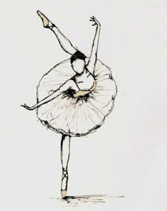 ballet, drawing, and dance图片