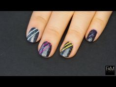 Colorful stripes nails - nail art tutorial I Futilities And More
