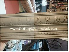 Chalk Paint™ Decorative Paint by Annie Sloan French Linen.  Two coats, then one coat of clear wax over whole board and dark wax over half.