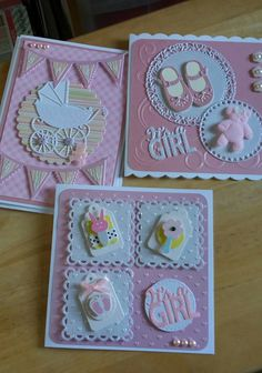 Awe, so cute. - Awe, so cute. Baby Girl Cards, New Baby Cards, Handmade Birthday Cards, Greeting Cards Handmade, Baby Scrapbook, Scrapbook Cards, Karten Diy, Baby Shower Cards, Congratulations Card