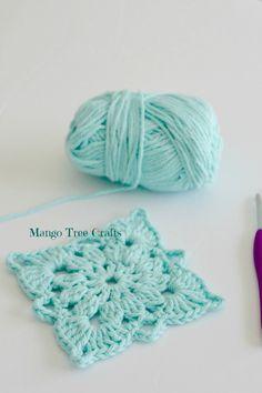 Crochet Granny Square Patterns Mango Tree Crafts: Crochet Square Pattern and Photo Tutorial Poncho Crochet, Love Crochet, Crochet Granny, Crochet Crafts, Crochet Yarn, Yarn Crafts, Crochet Projects, Tree Crafts, Crochet Blankets